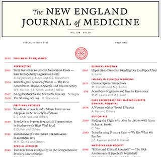 《新英格兰医学杂志》:Vol 381 No 8