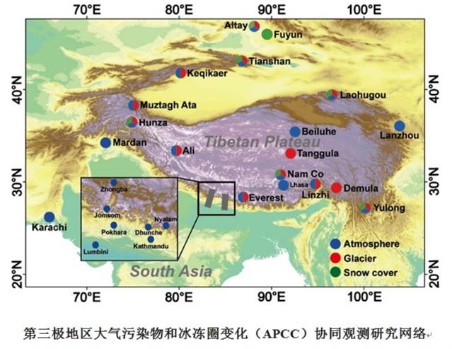 haosf・第三极地区大气污染与冰冻圈退缩的关联